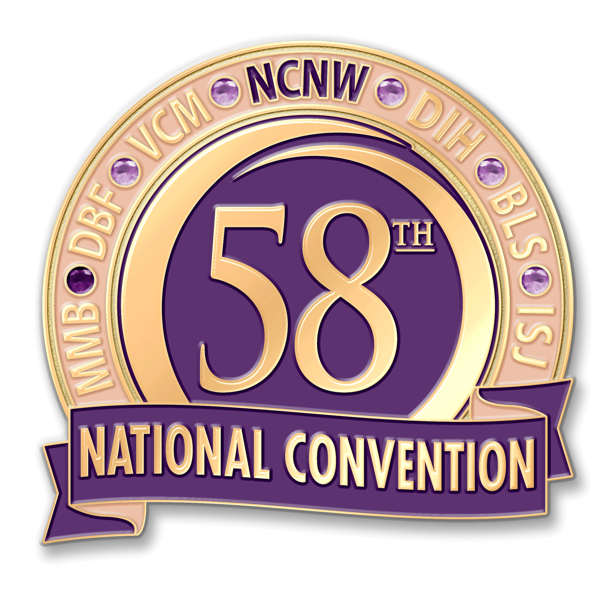 58th Convention Commemorative Pin